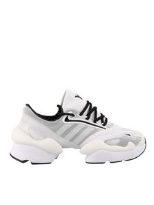 Y-3 Yohji Yamamoto - Ren leather and fabric white sneakers