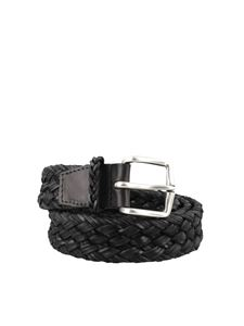 Orciani - Black woven leather belt