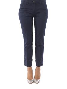 Fay - Stretch cotton capri trousers with turn ups