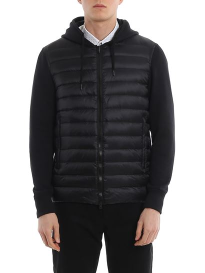 Herno - Padded front hoodie with zip closure