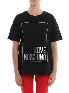 Love Moschino - Polka dot relief logo oversized T-shirt