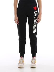 Love Moschino - Rubberized logo print joggers
