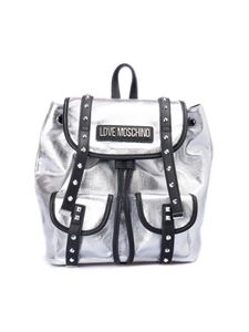 Love Moschino - Studded strap metallic backpack