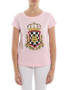Love Moschino - Embellished logo crest T-shirt