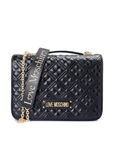 Love Moschino - Quilted nappa effect black shoulder bag