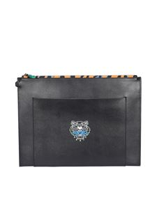 Kenzo - Clutch Tiny Tiger in pelle