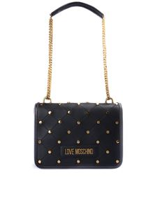 Love Moschino - Golden stud quilted bag