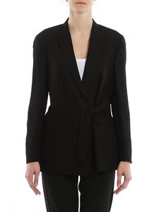 Dondup - Bow detailed crepe blazer