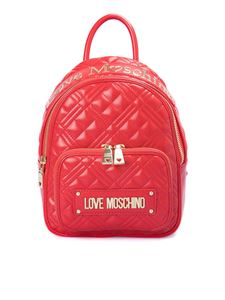 Love Moschino - Quilted backpack with logo