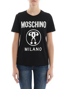 Moschino - Double Question Mark printed jersey T-shirt