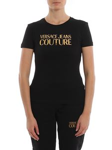 Versace Jeans Couture - Mirror logo lettering patch T-shirt