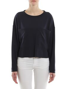 Dondup - Maxi pockets viscose blend boxy sweatshirt