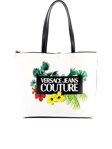 Versace Jeans Couture - Shopper in similpelle con stampa tropicale