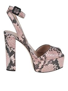 Giuseppe Zanotti - Betty reptile printed leather sandals