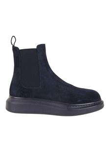 Alexander McQueen - Hybrid suede Chelsea ankle boots