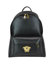 Versace - Palazzo black saffiano leather backpack