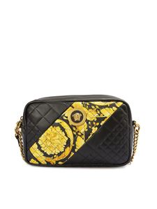 Versace - Baroque print black quilted leather bag