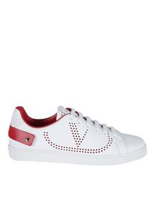 Valentino - Backnet white and red sneakers