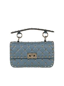 Valentino - Rockstud Spike blue cross body bag