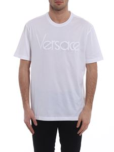 Versace - Total white embroidered T-shirt