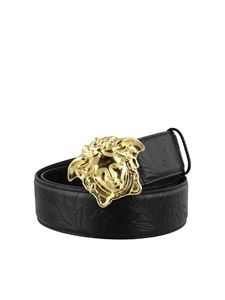 Versace - Palazzo leather belt with Medusa buckle