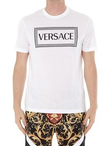 Versace - T-shirt in cotone stampa logo 90s Vintage