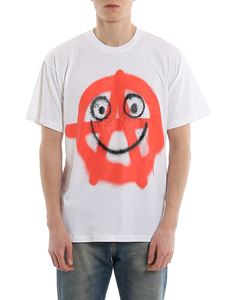 Moschino - Smile print soft cotton T-shirt
