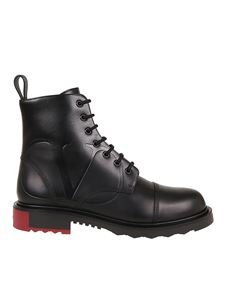 Valentino - Vlogo leather combat boots