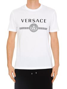Versace - Medusa Head and logo print white T-shirt