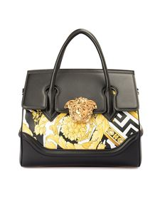 Versace - Leather bag featuring Baroque print