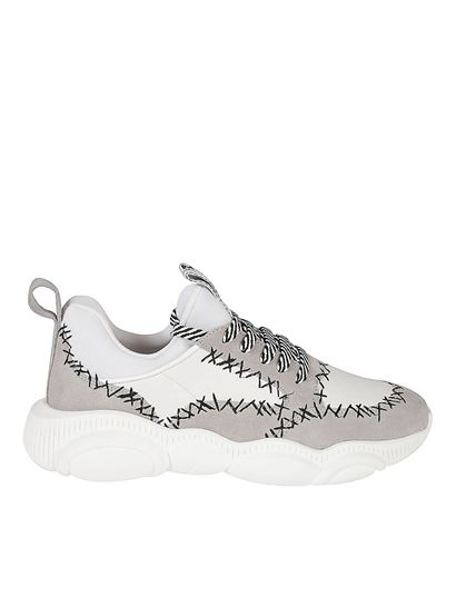 Moschino - Teddy contrasting stitching sneakers