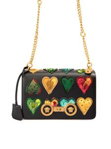 Versace - Hearts detailed leather bag