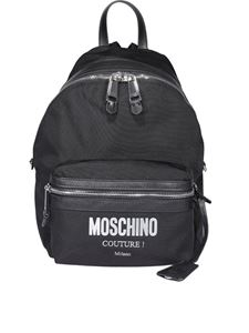 Moschino - Logo lettering nylon backpack
