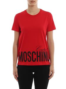 Moschino - Red cotton logo T-shirt