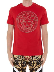 Versace - Gold-tone Medusa Head white T-shirt