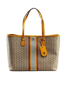 Tory Burch - Shopper in canvas spalmato Gemini Link