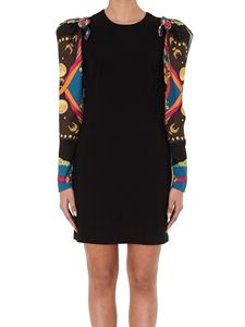 Versace - Baroque Rodeo print sleeved dress