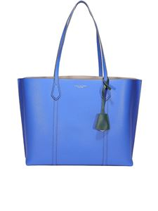 Tory Burch - Shopper blu in pelle martellata