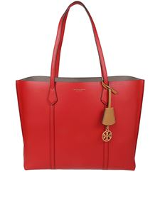 Tory Burch - Perry triple compartment red leather bag