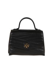 Tory Burch - Kira Chevron black quilted leather bag