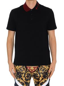 Versace - GV Signature embroidery polo shirt
