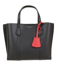 Tory Burch - Perry small triple compartment black tote
