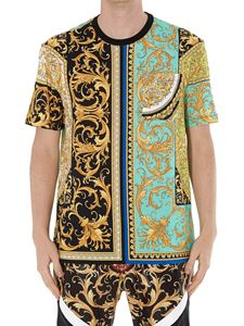 Versace - Baroque print cotton T-shirt