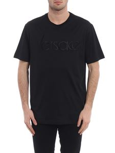 Versace - Total black embroidered Tee