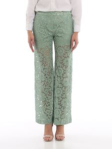Valentino - Lace flared trousers