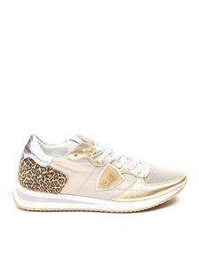 Philippe Model - Sneakers Tropez Mondial oro e animalier