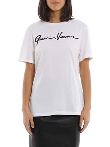 Versace - GV Signature embroidery white T-shirt