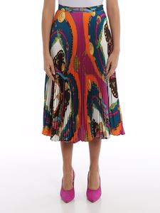 Versace - Barocco Rodeo print pleated skirt
