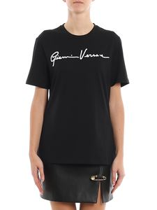 Versace - GV Signature embroidered T-shirt
