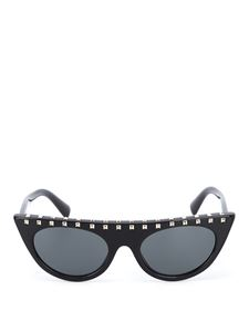 Valentino - Stud embellished black sunglasses